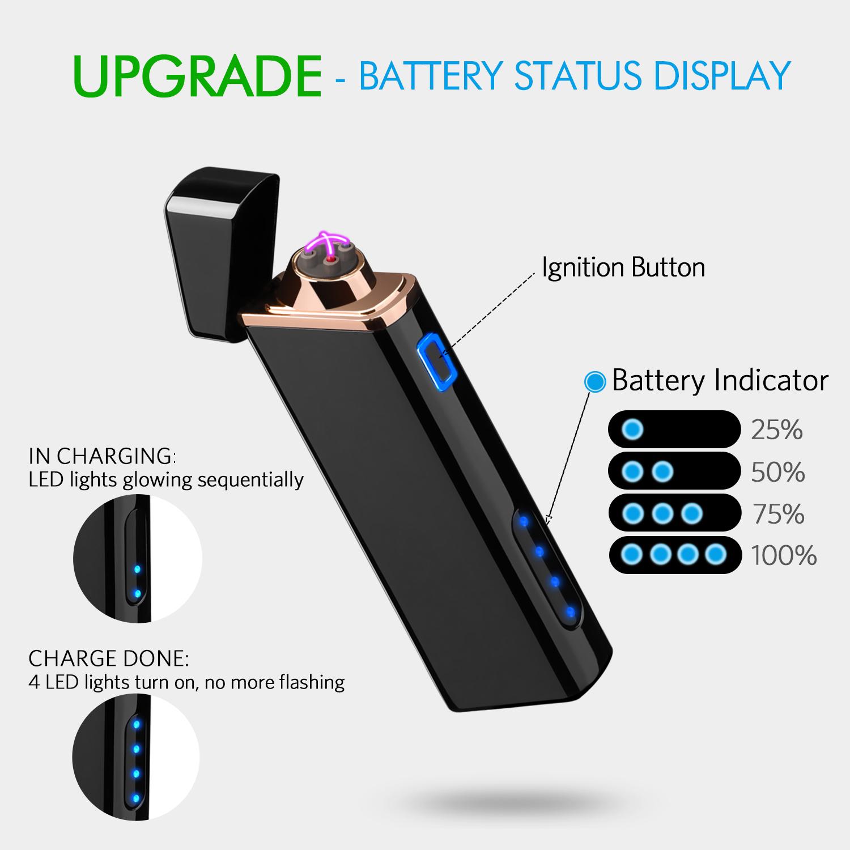 Electric Lighter Plasma Lighter Windproof Lighter Usb